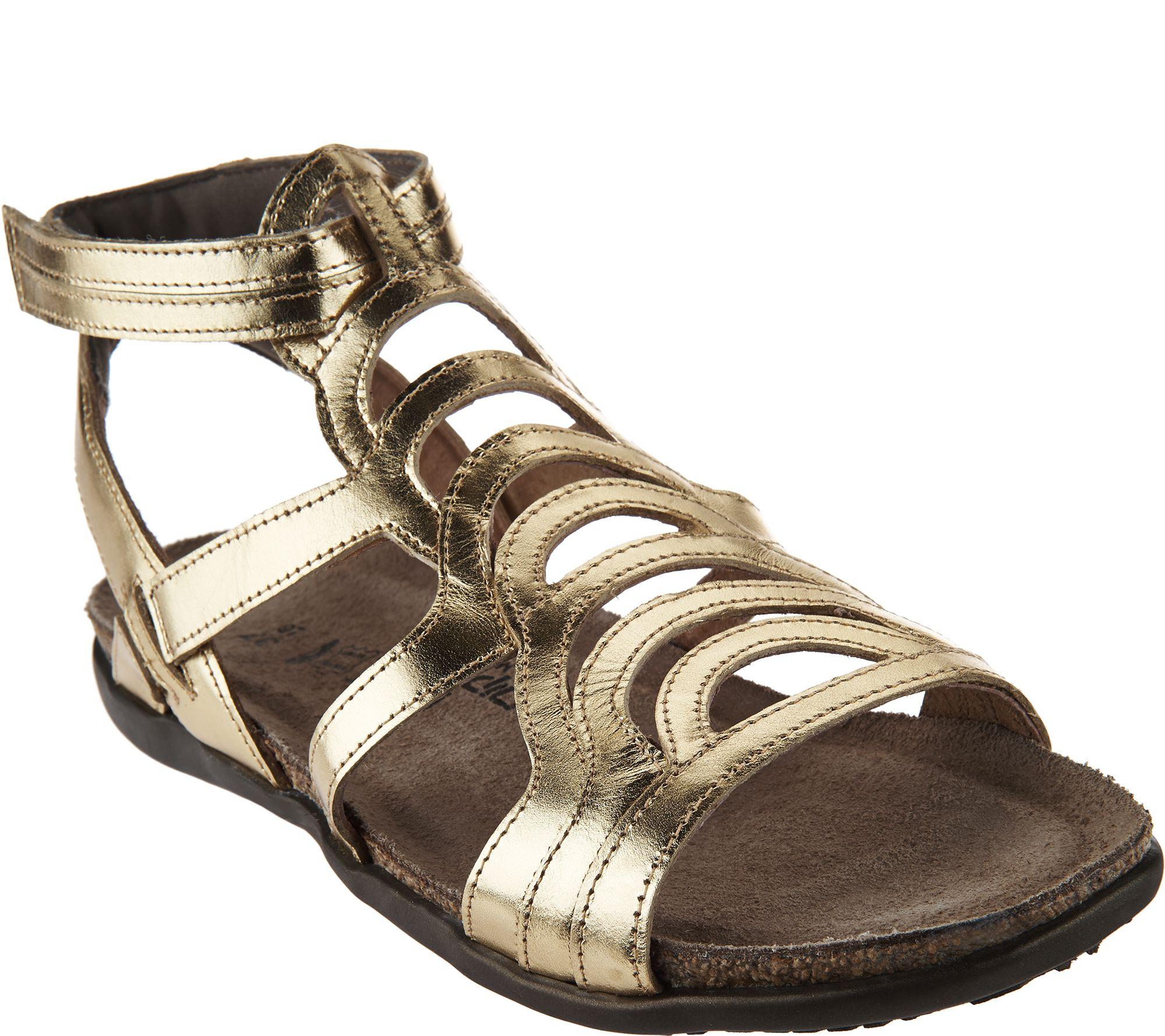6f211fd745fa Naot Leather Gladiator Sandals - Sara - Page 1 — QVC.com