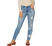Laurie Felt Classic Denim Embroidered Ankle Jeans - A290646