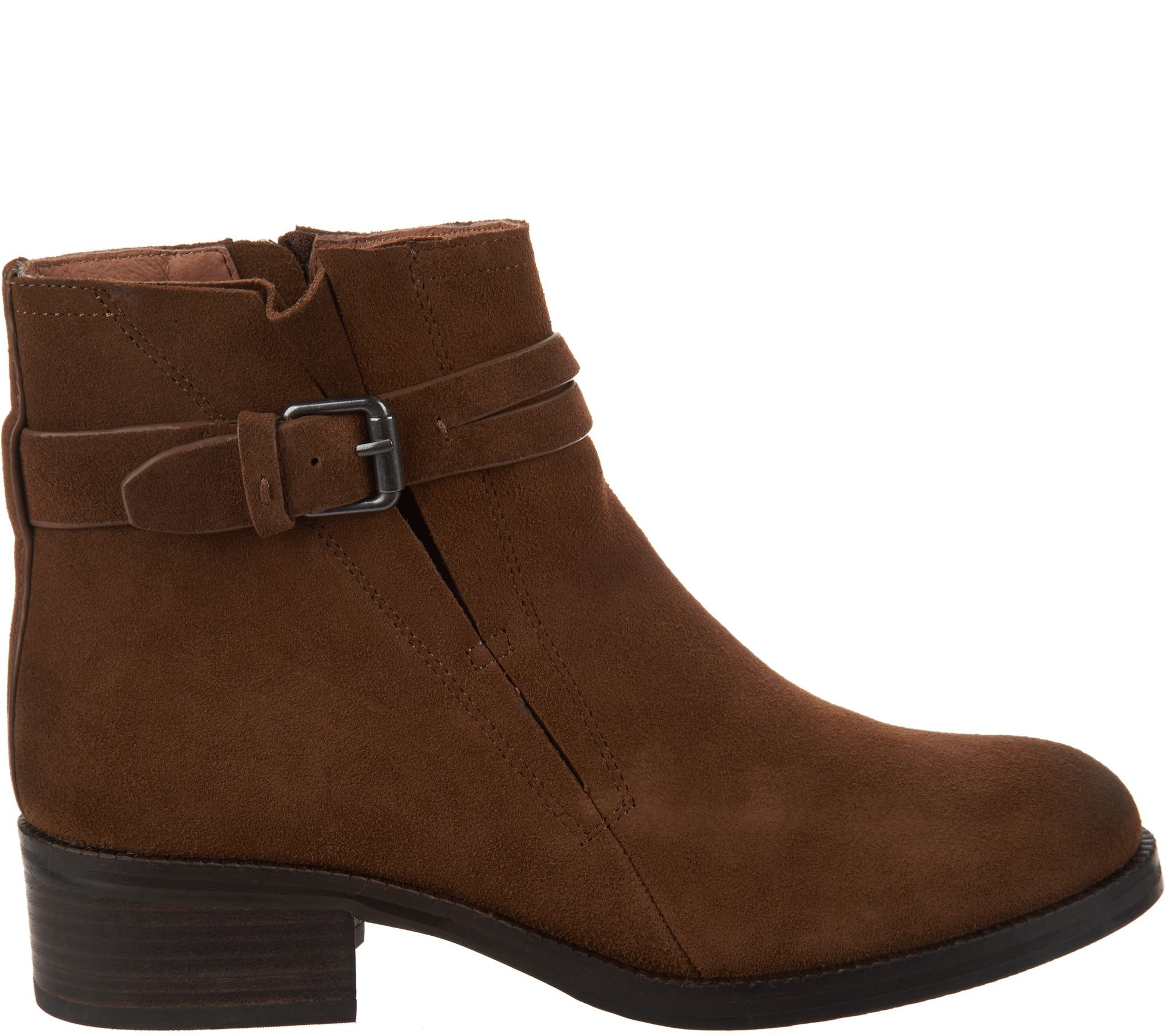 9a2abf1734b Gentle Souls Leather or Suede Ankle Boots - Percy — QVC.com