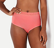 Breezies Set of 3 Micro Full Brief Panties with Lace - A302046