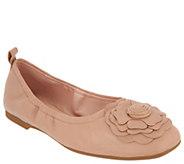 Taryn Rose Ballet Flats w/ Rose Detail - Rosalyn - A304446