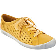 Softinos by FLY London Leather Lace Up Sneakers - Ica - A304946
