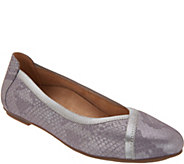 Vionic Leather Ballet Flats - Caroll - A309046