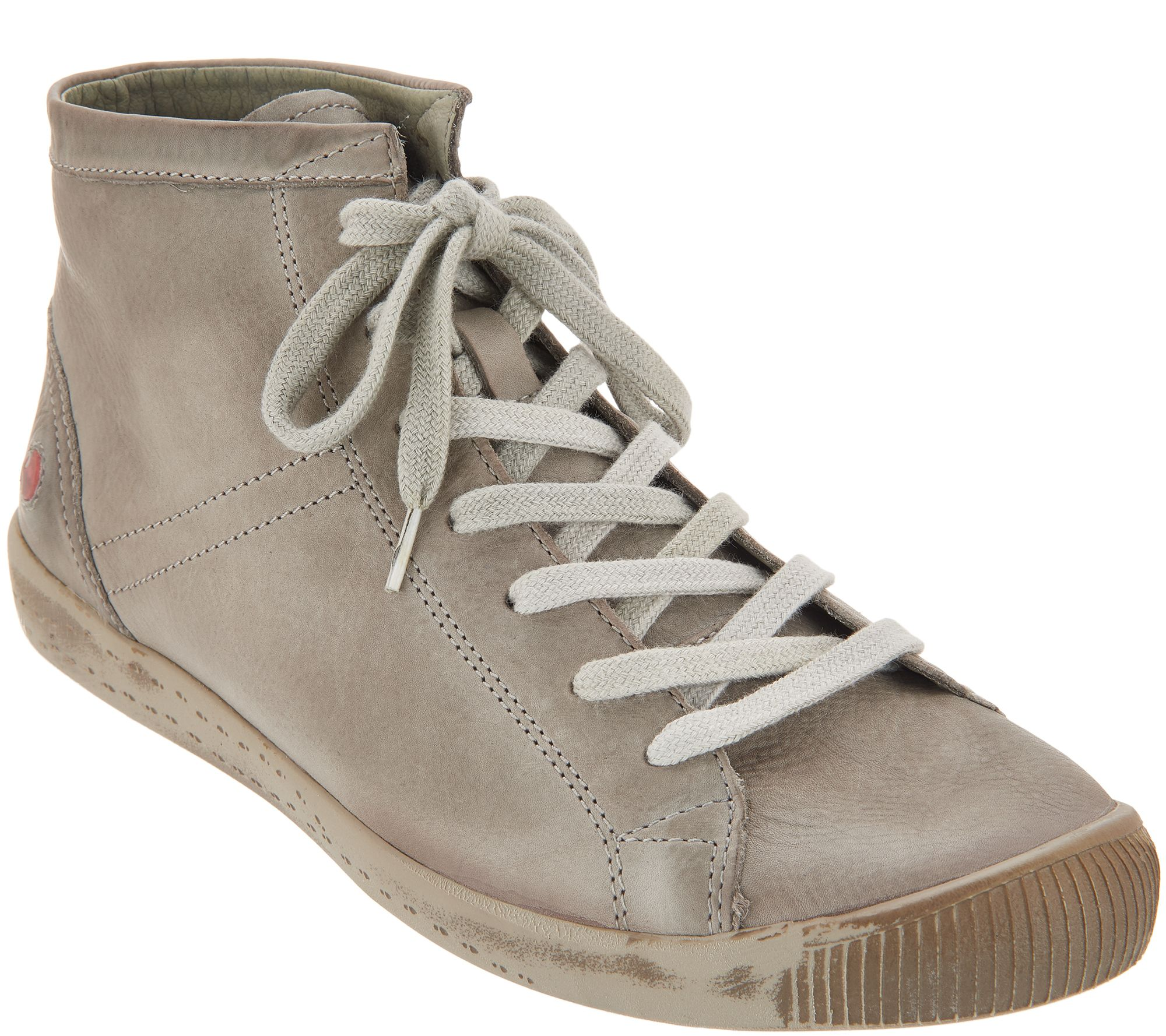Softinos By Fly London Leather Lace Up Sneakers Isleen