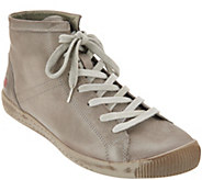 Softinos by FLY London Leather Lace-up Sneakers - Isleen - A342546
