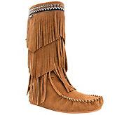Lamo Suede Fringe Boots - Virginia - A415646