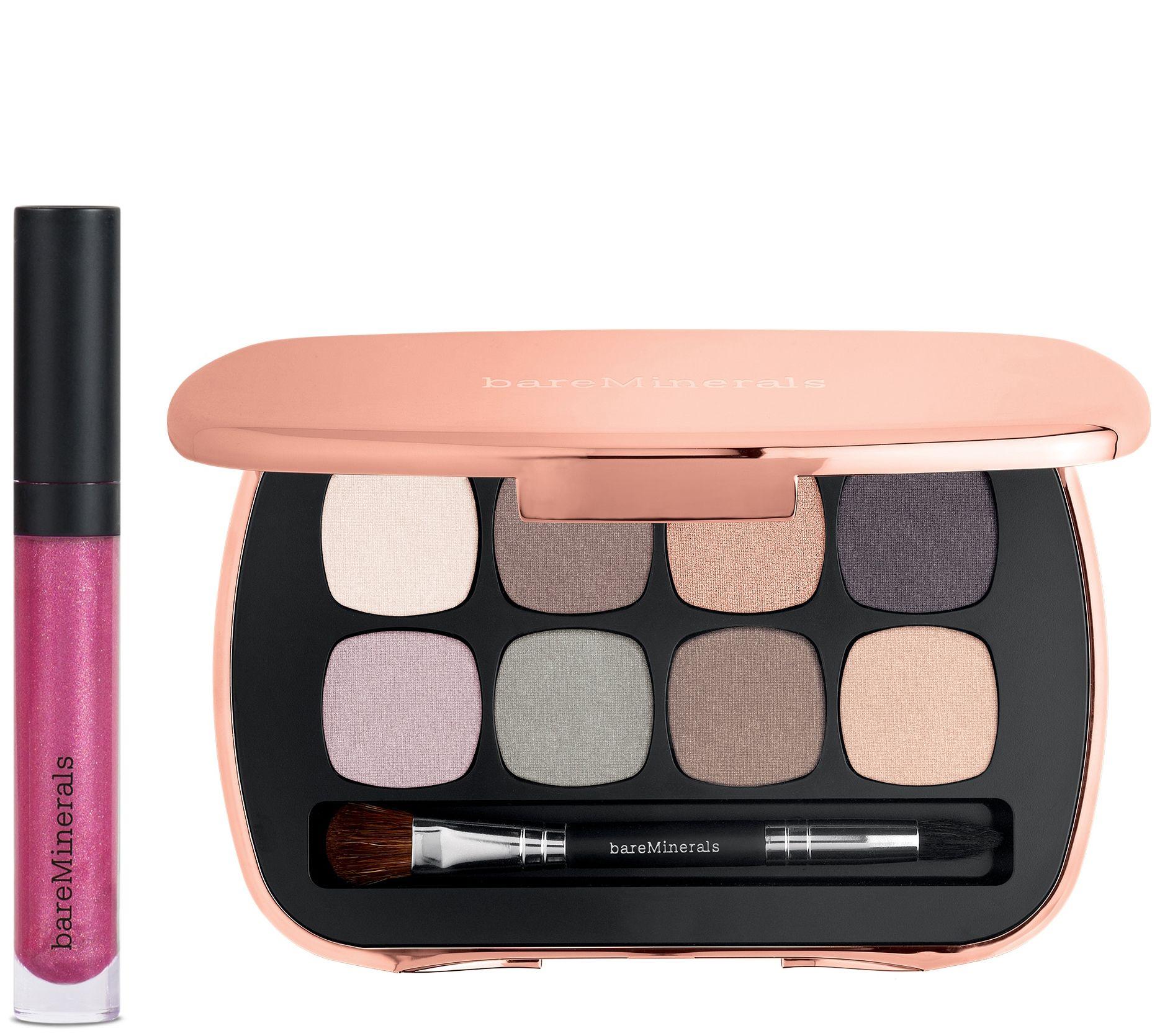 Bareminerals Eye Shadow Palette And Lip Gloss Qvc Com