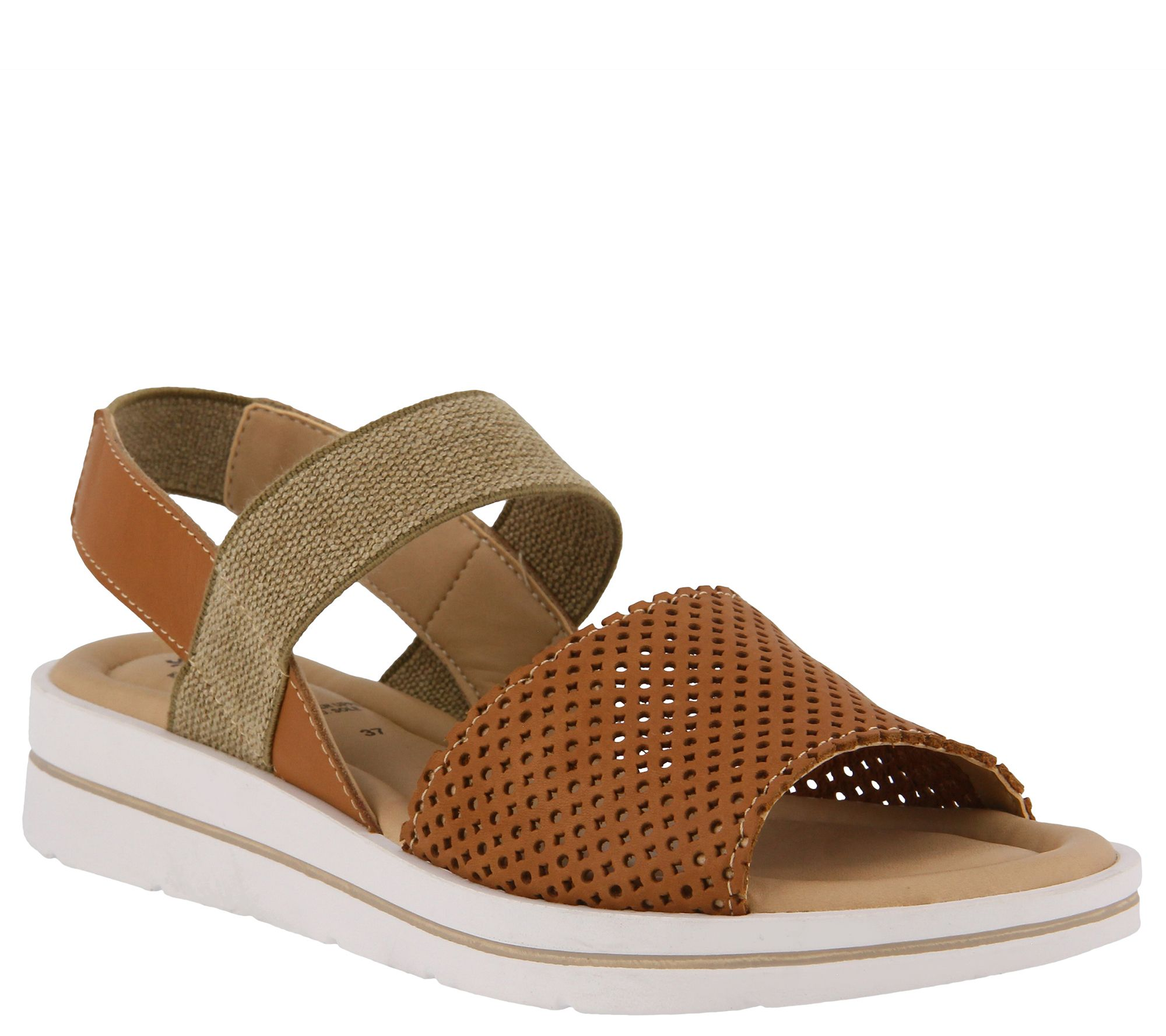 8ab7690c1ee Spring Step Leather Ankle-Strap Sandals - Travel — QVC.com