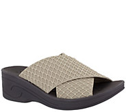 SoLite by Easy Street Elastic Wedge Comfort Sandals - Agile - A424646