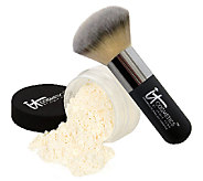 IT Cosmetics Bye Bye Pores HD Finishing Powder w/Hydro Collagen& Brush - A212347