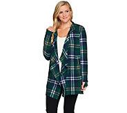 Cuddl Duds Fleecewear Stretch Long Sleeve Wrap with Hood - A267447