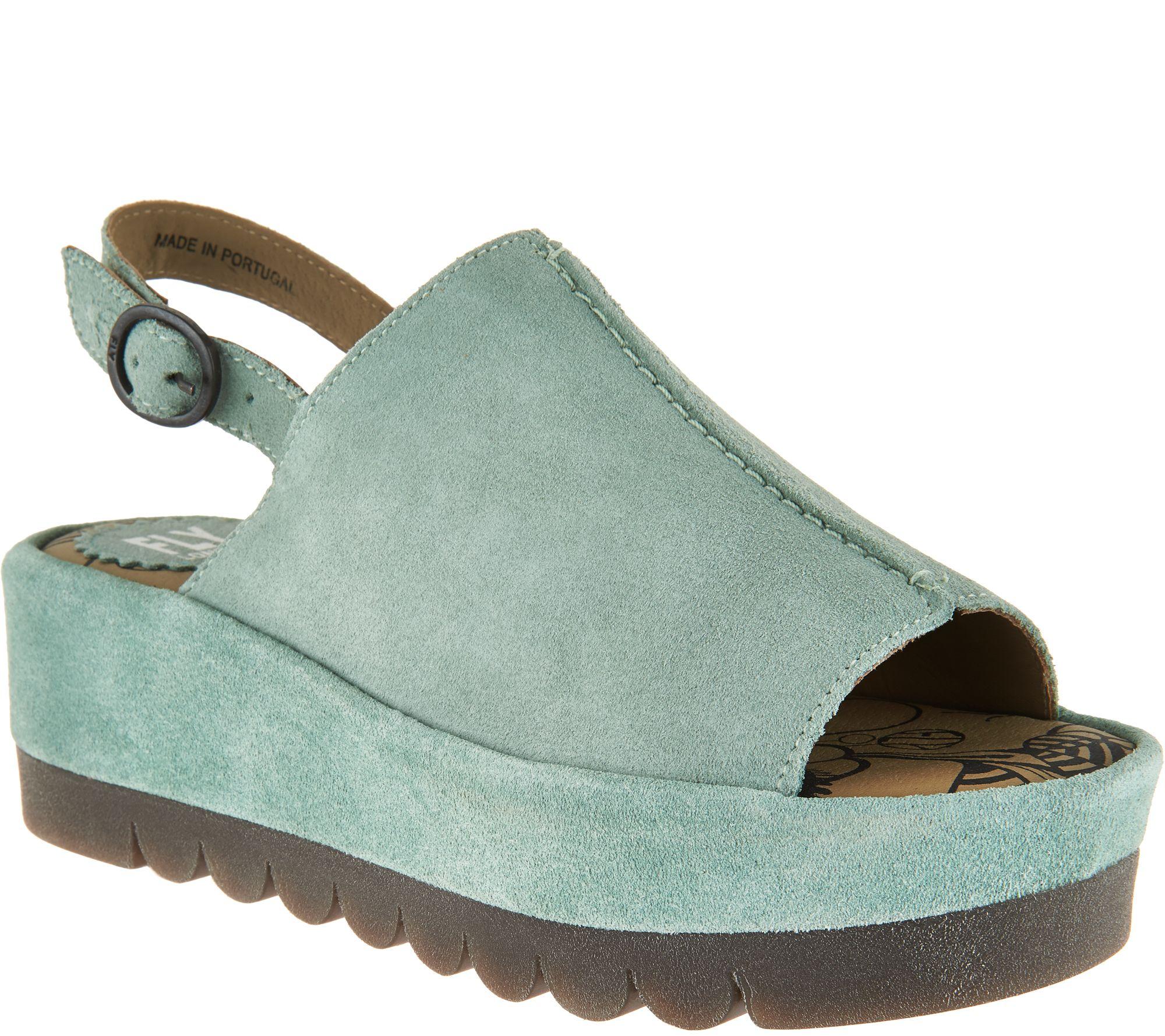 5647d5957e FLY London Leather Platflorm Sandals - Bora - Page 1 — QVC.com