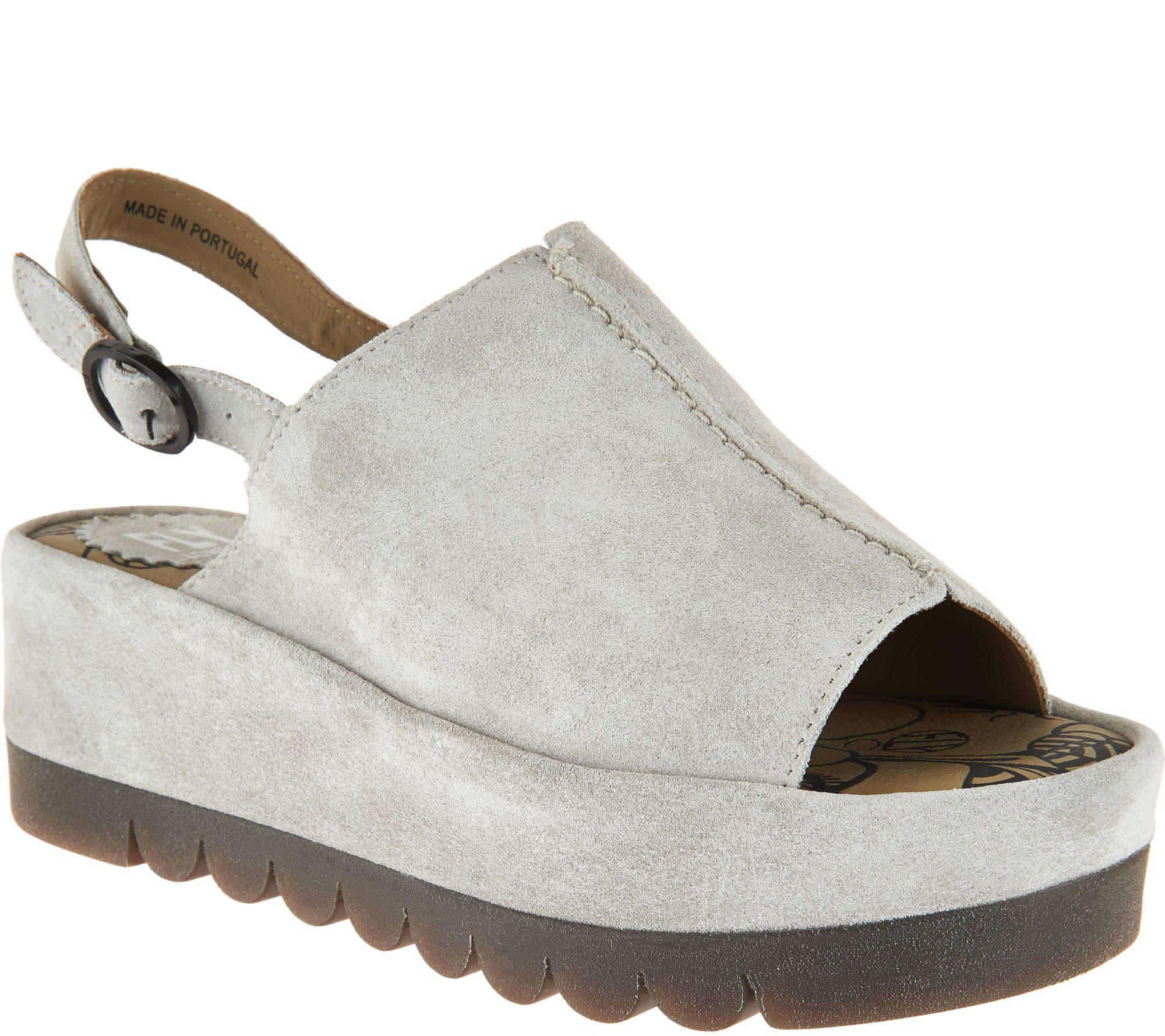 03b93e34d93 FLY London Leather Platflorm Sandals - Bora - Page 1 — QVC.com