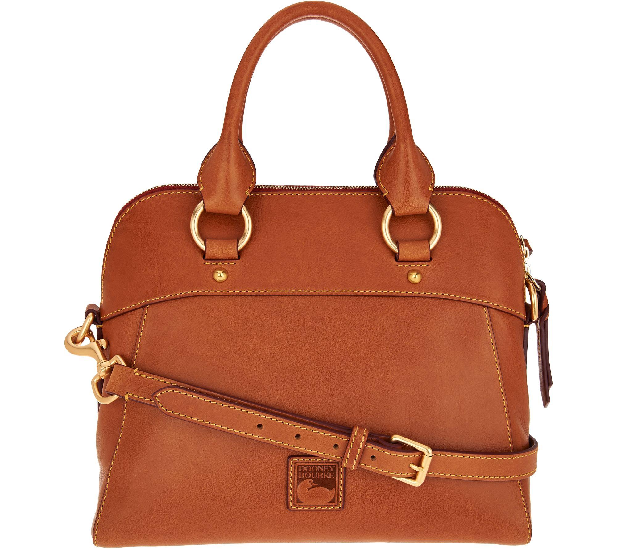 b19ab12f8 Dooney & Bourke Florentine Satchel Handbag -Cameron - Page 1 — QVC.com