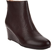 Gentle Souls Leather Wedge Ankle Boots - Vicki - A297047