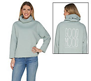 Peace Love World Mimi Fleece Saltwash Turtleneck Top - A301547