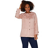 Bob Mackies Faux Suede Snap Front Jacket - A302147