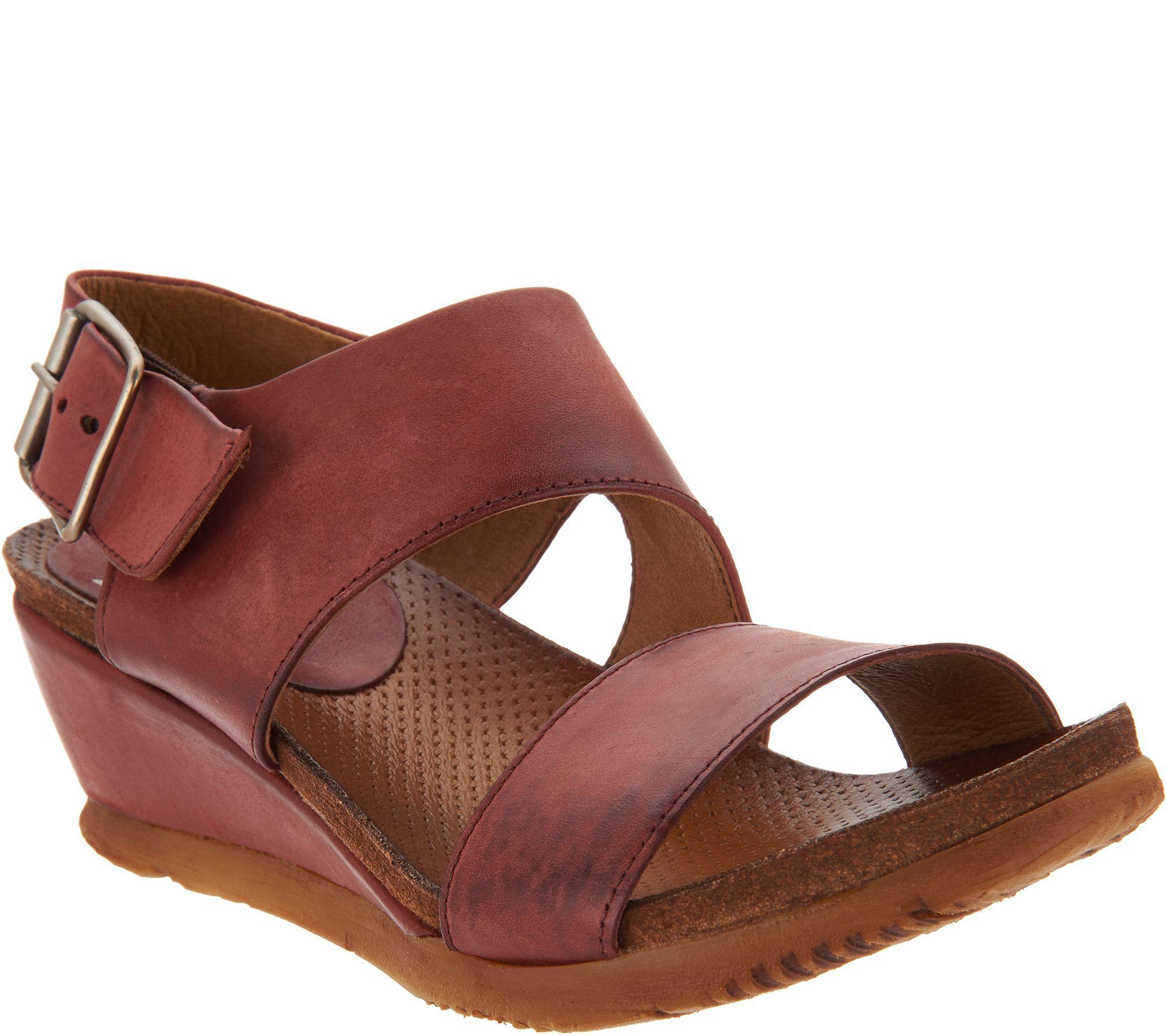 95bfee83c948 Miz Mooz Leather Wedge Sandals - Mariel - Page 1 — QVC.com