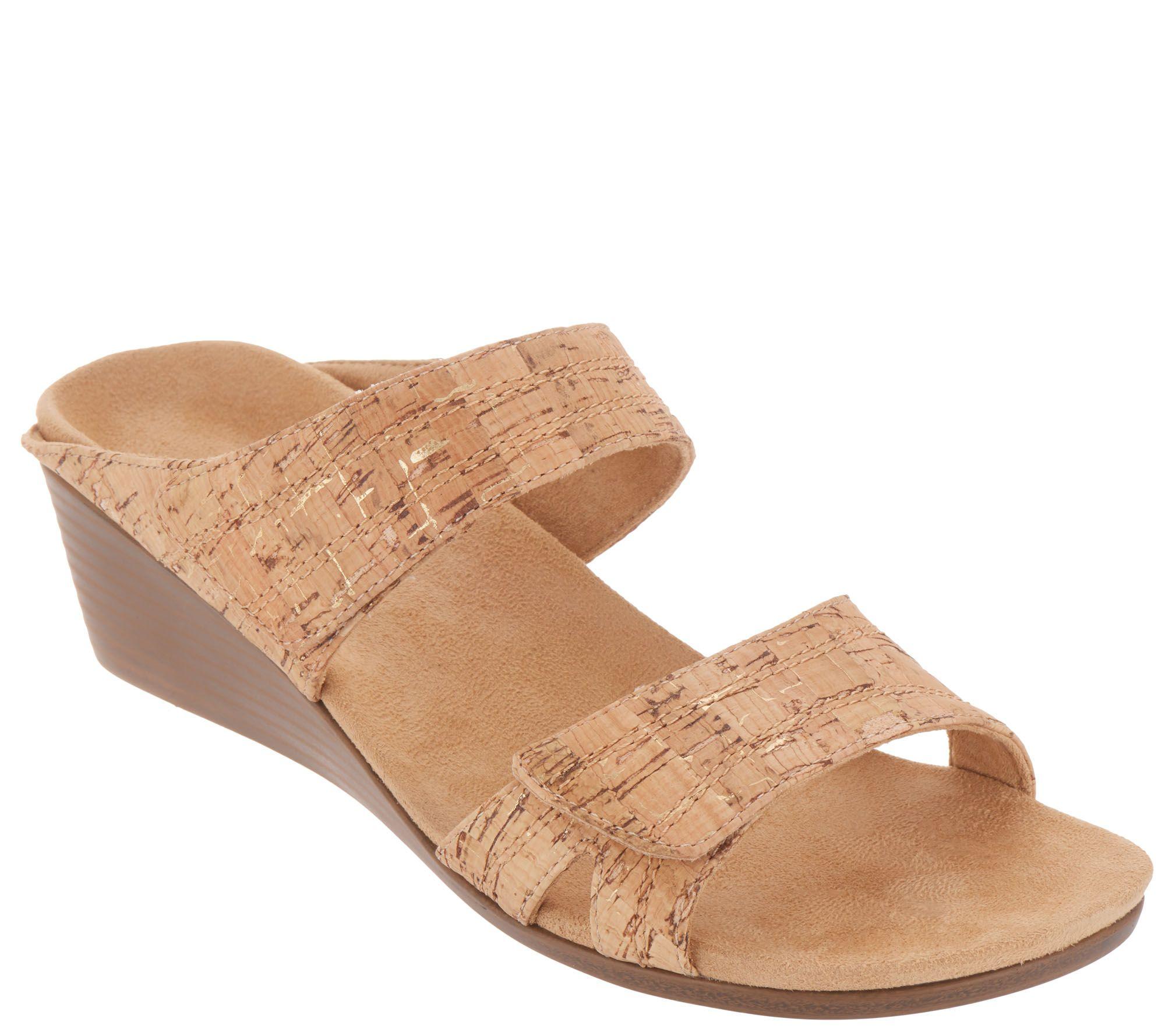 0ed6b0516a97 Vionic Slide Wedge Sandals - Chrissy - Page 1 — QVC.com