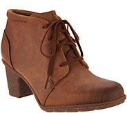 As Is Clarks Leather Lace up Ankle Boots- Sashlin Sue - A306247