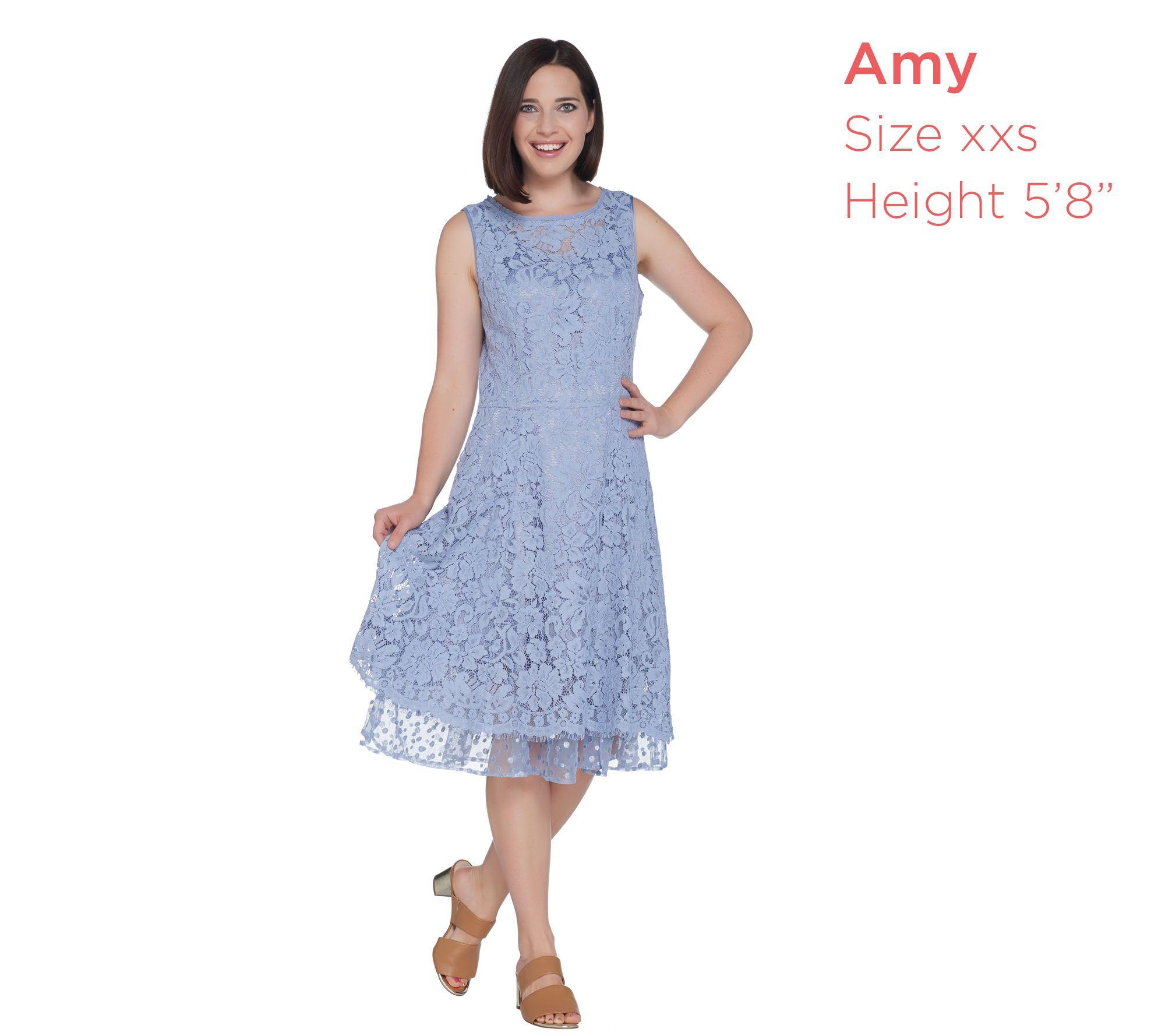 97246449c92a Isaac Mizrahi Live! Lace Dress with Point D'Esprit Trim - Page 1 ...