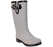 Nomad Puddles Rubber Rain Boots - Herringbone - A337847