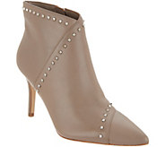 Marc Fisher Leather Studded Pointy Toe Booties - Riva - A342747