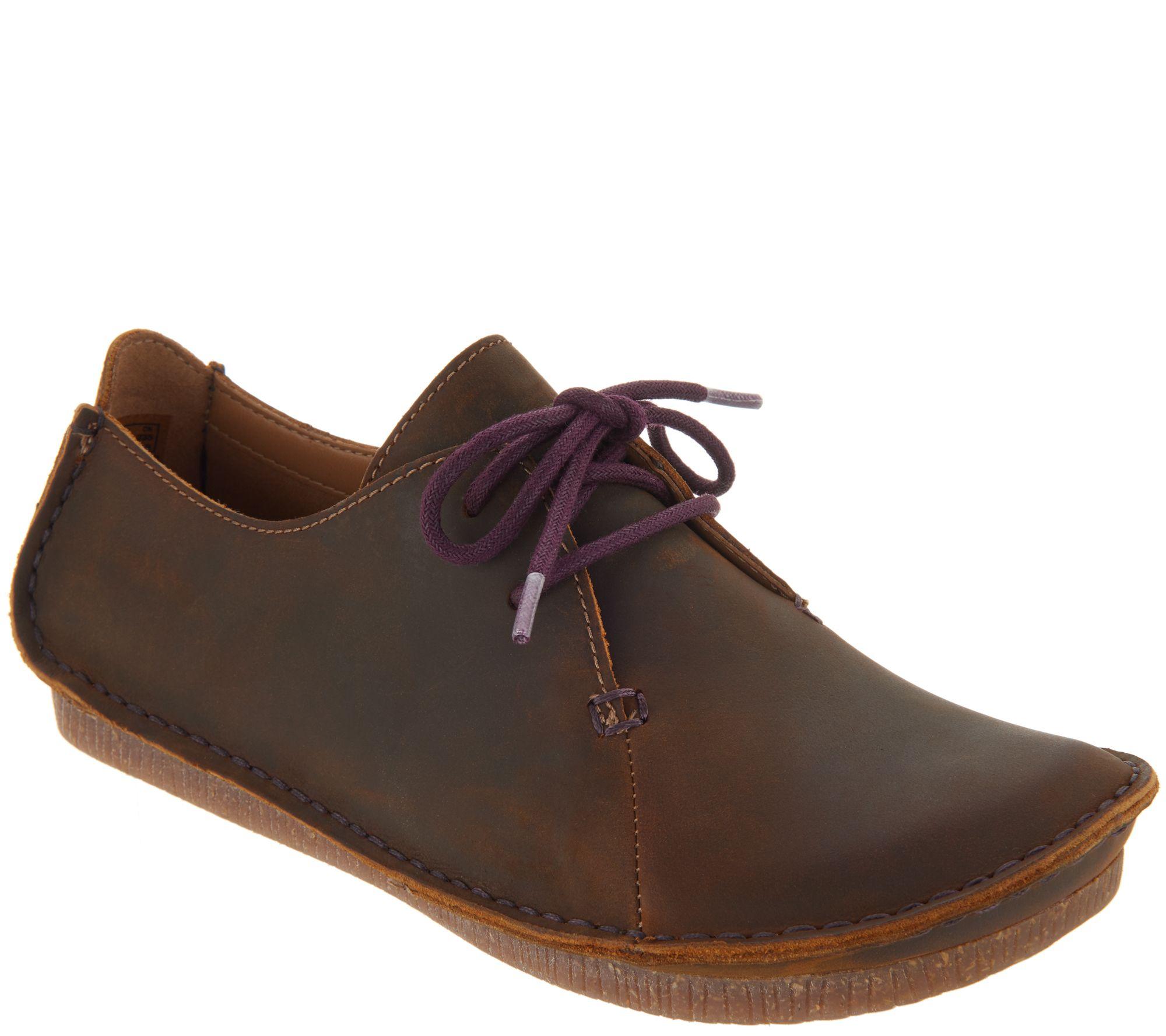 8d57055d4c0d Clarks Unstructured Leather Lace-up Shoes - Janey Mae - Page 1 — QVC.com