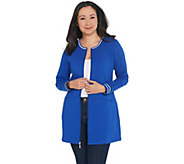 Denim & Co. Active Regular Tunic Jacket with Stripped Rib Trim - A347347