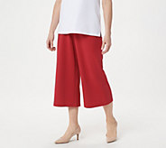 Joan Rivers Petite Pull-On Textured Crepe Gauchos - A351447