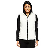 Joan Rivers Reversible Faux Fur Vest with Pockets - A237048