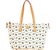 Dooney & Bourke NCAA University of Miami Zip Top Shopper - A283248