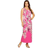 Isaac Mizrahi Live! Petite Engineered Floral Sleeveless Maxi - A290848