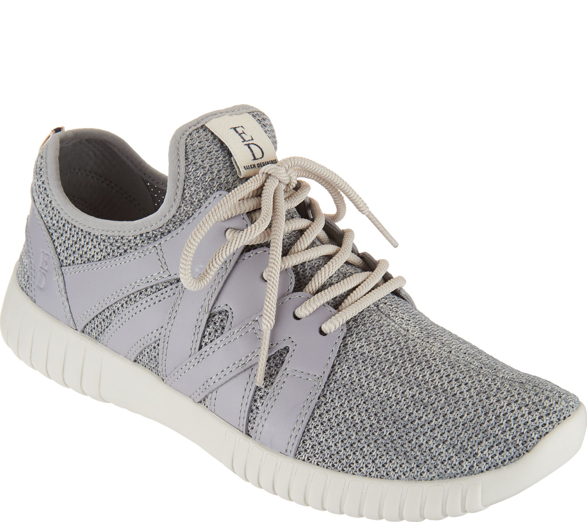 78bfd6006f7 ED Ellen DeGeneres Knit   Leather Sneakers - Havala - Page 1 — QVC.com