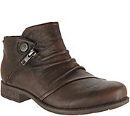 Earth Leather Ruched Ankle Boots - Ronan - A296848