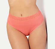 Breezies Set of 3 Micro Hi-Cut Panties with Lace - A302048