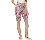 As Is LOGO Lounge by Lori Goldstein French Terry Printed Shorts - A302248