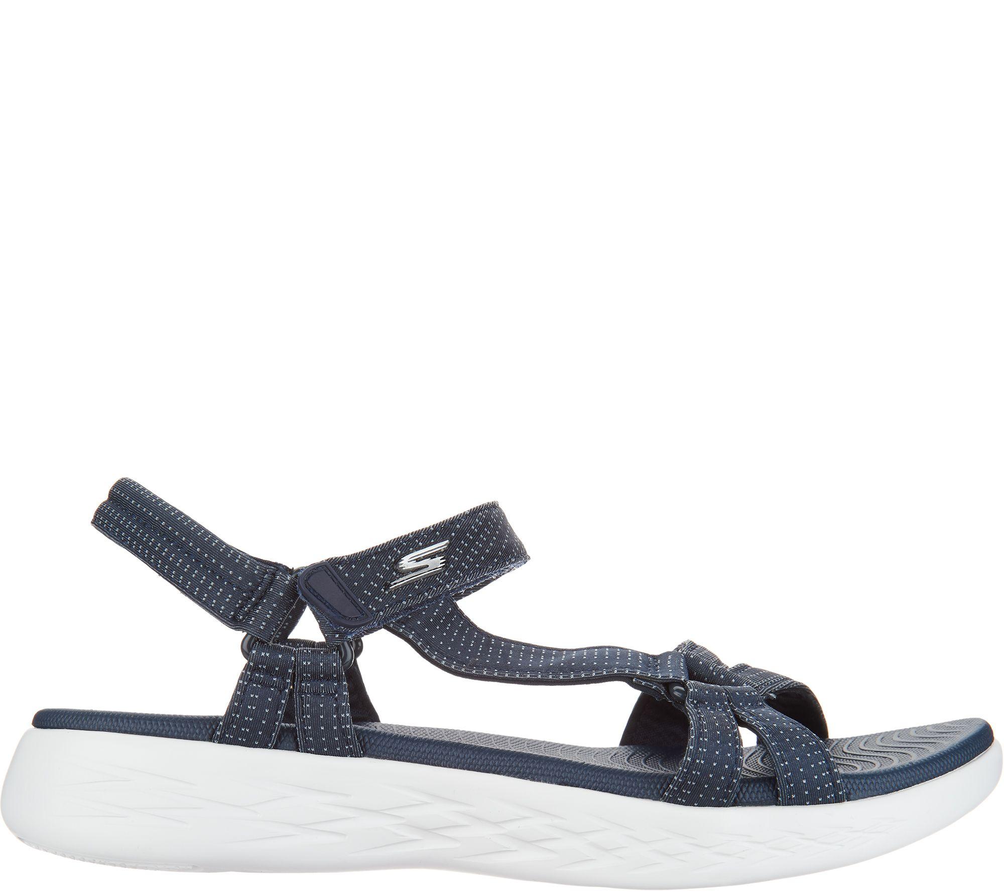 f3ac99e422f0 Skechers GO Walk Move Quarter Strap Sandals - Brilliancy - Page 1 — QVC.com