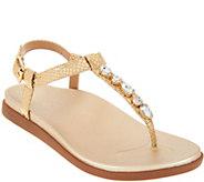 Vionic Embellished T-Strap Sandals - Boca - A305648