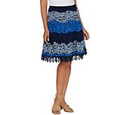 Isaac Mizrahi Live! Ombre Lace Stripe Skirt - A306548