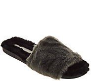 As Is Lori Goldstein Collection Faux Fur Slides - A308148