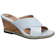 Sofft Idola Criss-Cross Leather Slide Sandals - A332648