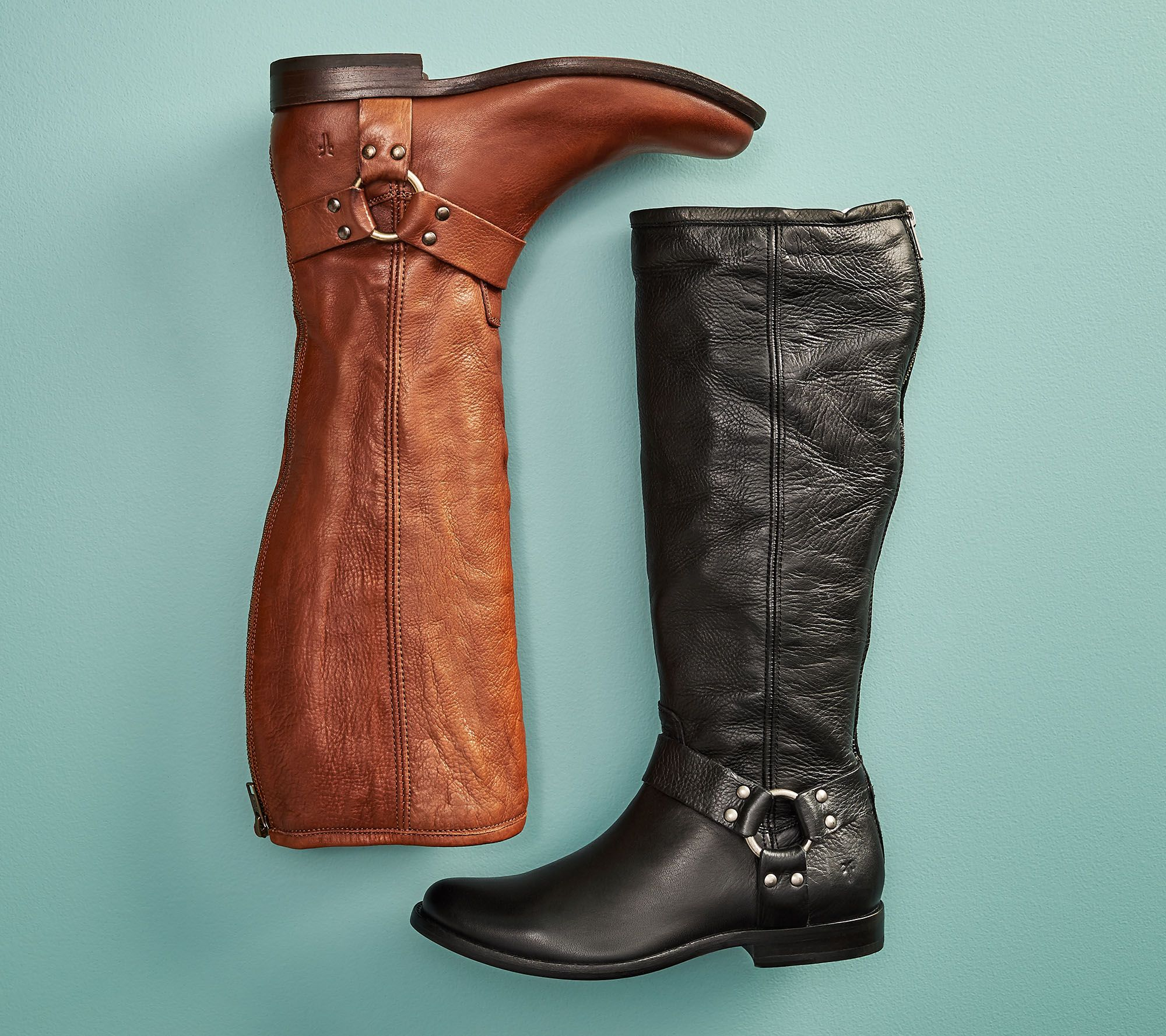 e62cb3af74b Frye Wide Calf Leather Tall Shaft Boots - Phillip Harness - Page 1 — QVC.com