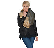 Isaac Mizrahi Live! Color-Block Plaid Blanket Scarf - A345848