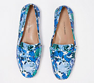 Isaac Mizrahi Live! Floral Printed Leather Moccasins - A350348