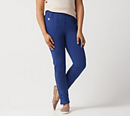 Quacker Factory Short DreamJeannes Slim-Leg Ankle Pants - A351348