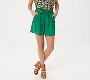 Du Jour Paper Bag Waist Shorts with Tie Detail - A354448
