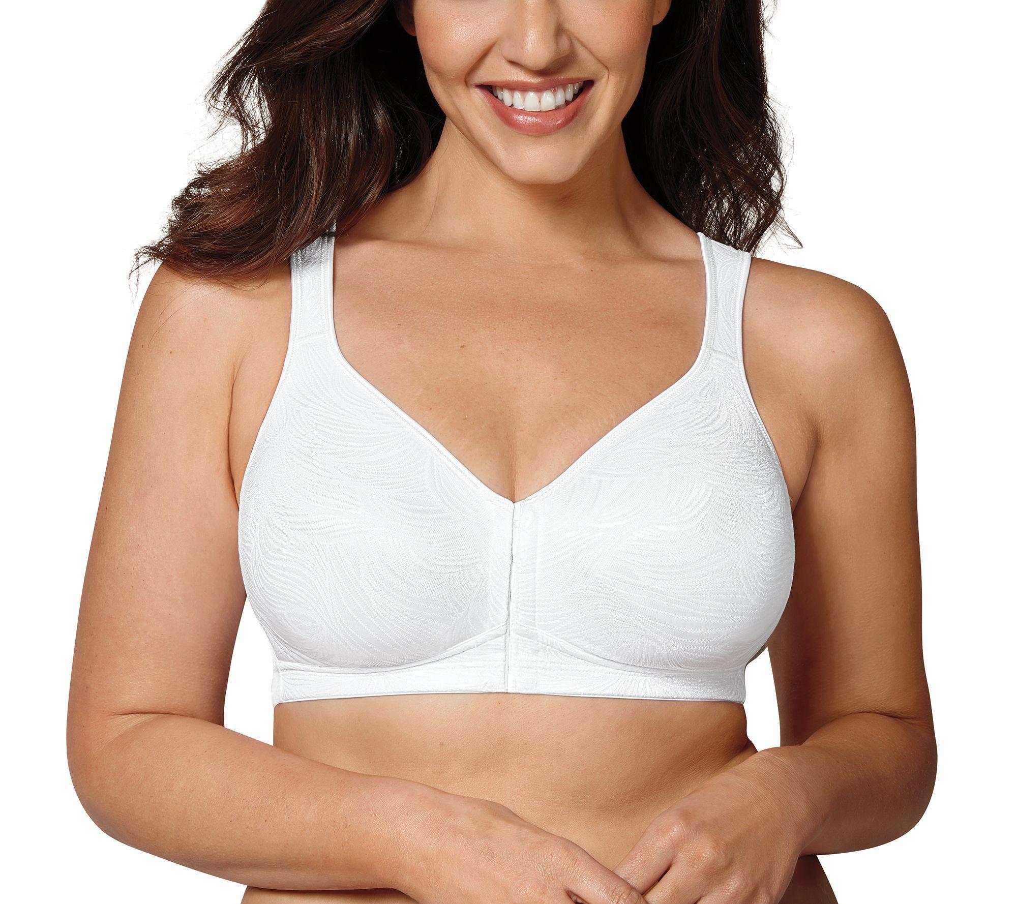Playtex Womens 18 Hour Easy on Easy Off Seamless Wirefree Mastectomy Bra Full Coverage Bra