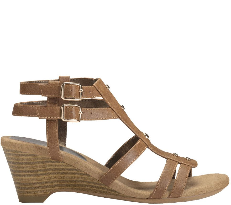 0e72027a3d8 A2 by Aerosoles Gladiator Sandals - Mayor - Page 1 — QVC.com