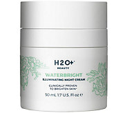 H2O  Beauty Waterbright Illuminating Night Cream, 1.7 oz - A358048
